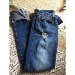 Hollister Skinny Crop Ripped Jeans Size 1